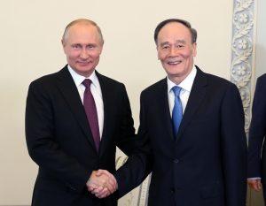 В.Путин встретился с заместителем председателя КНР Ван Цишанем
