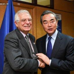 Ван И провел встречу с верховным представителем ЕС по иностранным делам и политике безопасности Ж. Боррелем